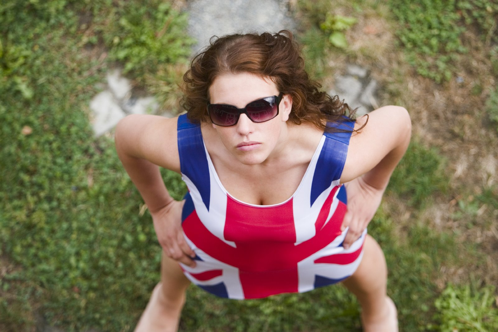 picture showing a woman in a great britain dress