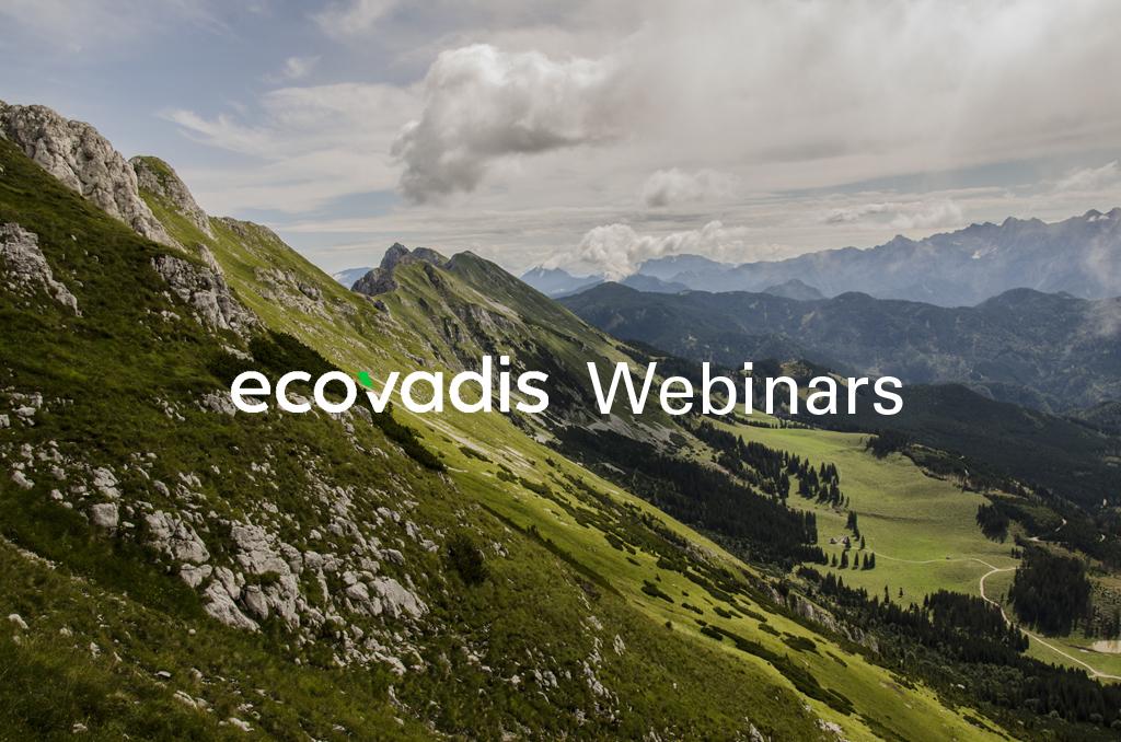 banner for ecovadis webinars