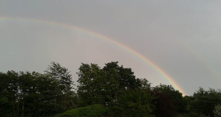 picture of a rainbow illustrating the blog article about megatrends